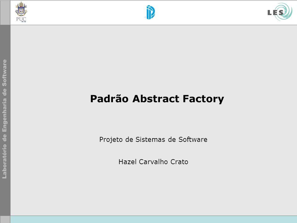 Padrão Abstract Factory Projeto de Sistemas de Software Hazel Carvalho Crato