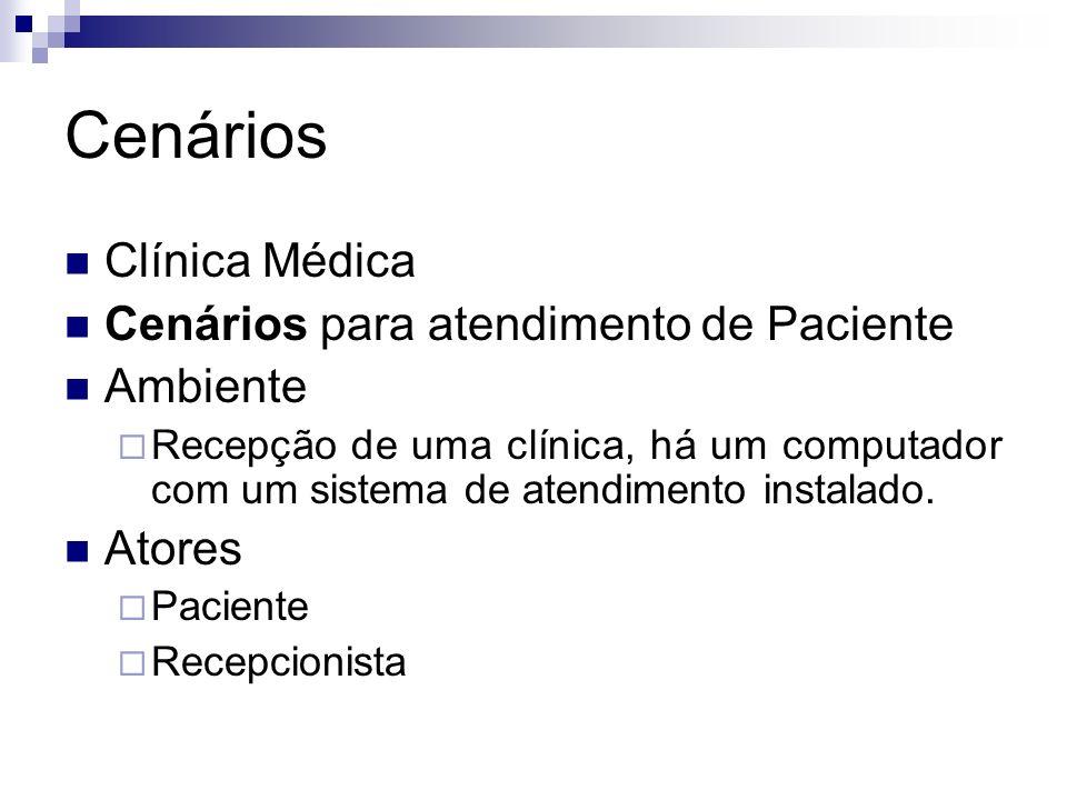 Cenários Clínica Médica Cenários para atendimento de Paciente Ambiente Recepção de uma clínica, há um computador com um sistema de atendimento instala