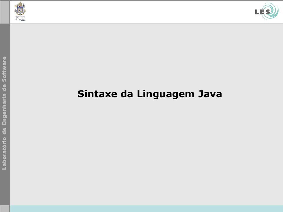 Sintaxe da Linguagem Java