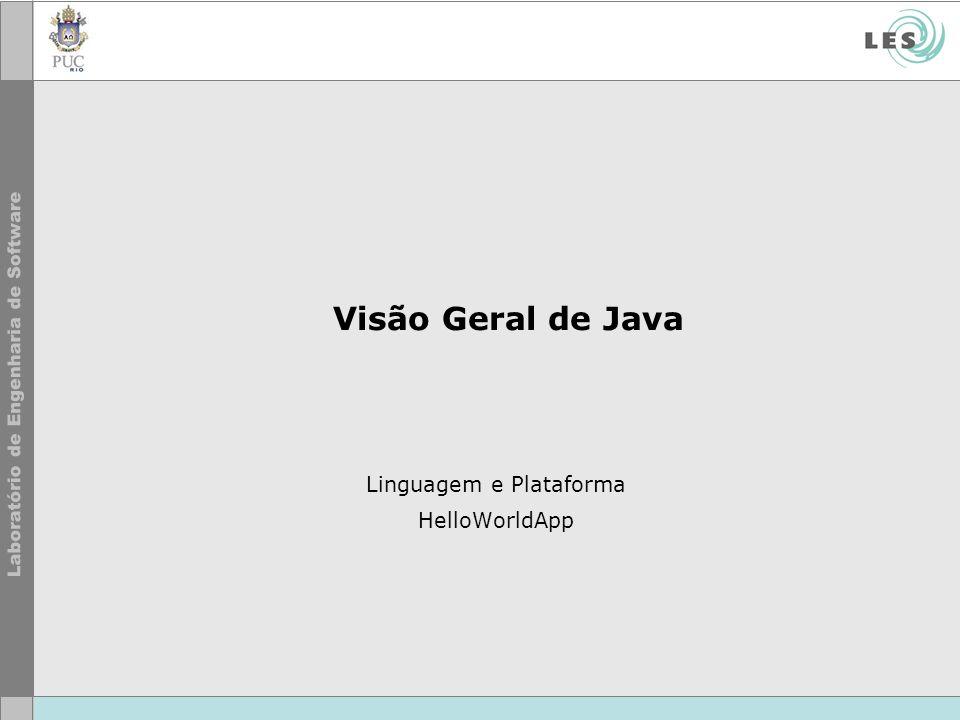 Visão Geral de Java Linguagem e Plataforma HelloWorldApp