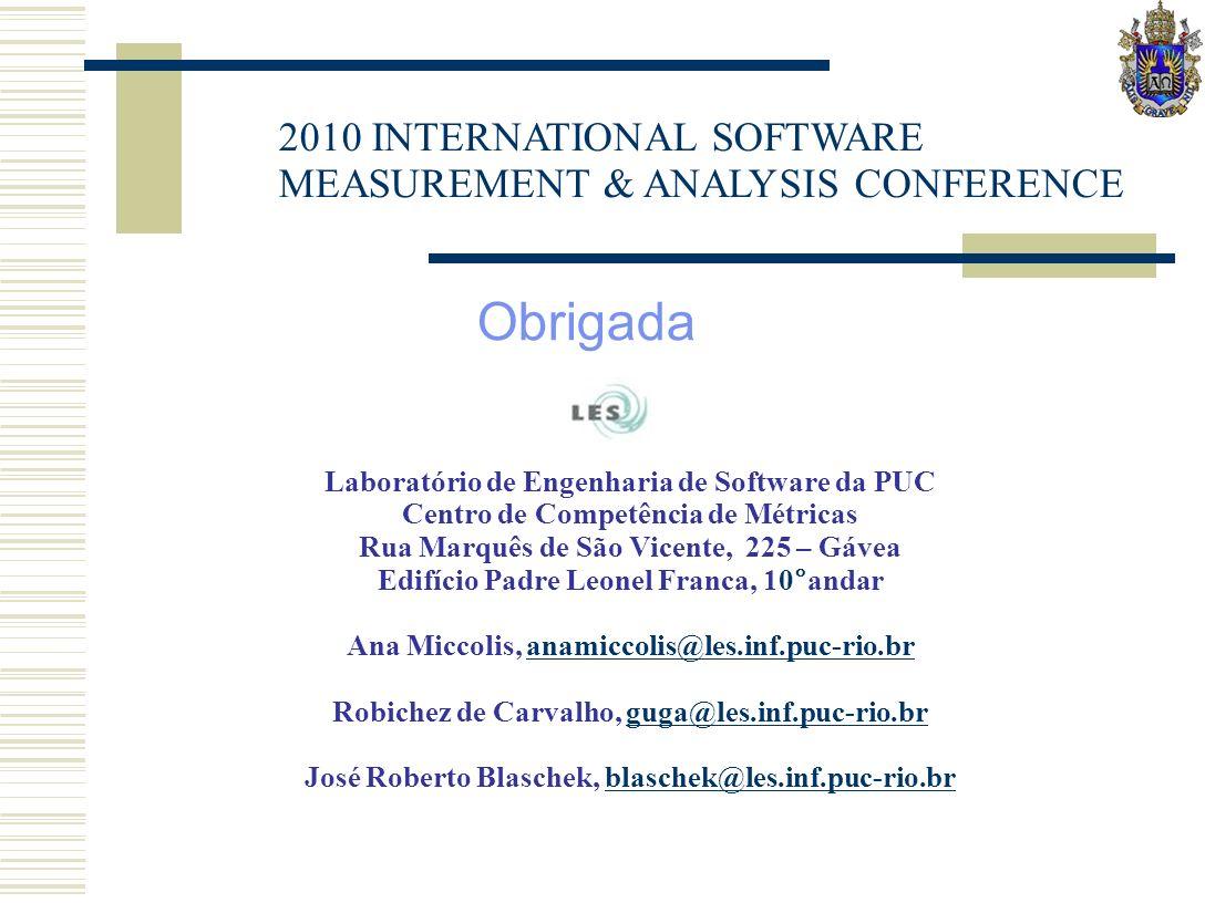 09/09/08 © 2007 IBM Corporation Obrigada Laboratório de Engenharia de Software da PUC Centro de Competência de Métricas Rua Marquês de São Vicente, 22