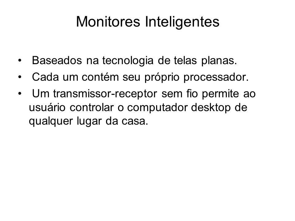 Monitores Inteligentes Baseados na tecnologia de telas planas. Cada um contém seu próprio processador. Um transmissor-receptor sem fio permite ao usuá