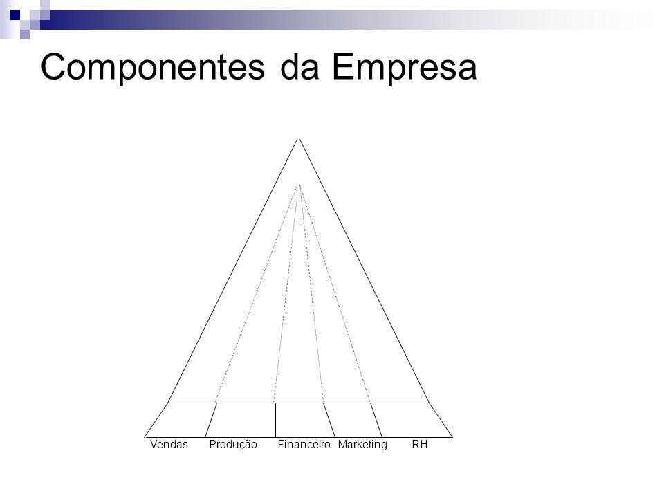 Componentes da Empresa Vendas Produção Financeiro Marketing RH