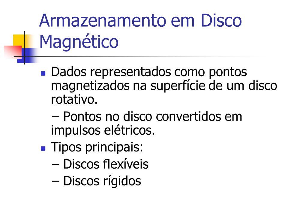 Velocidade de Acesso a Disco Tempo de acesso – o tempo necessário para acessar dados no disco.