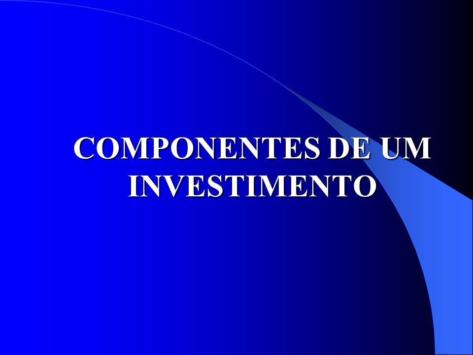 COMPONENTES DE UM INVESTIMENTO