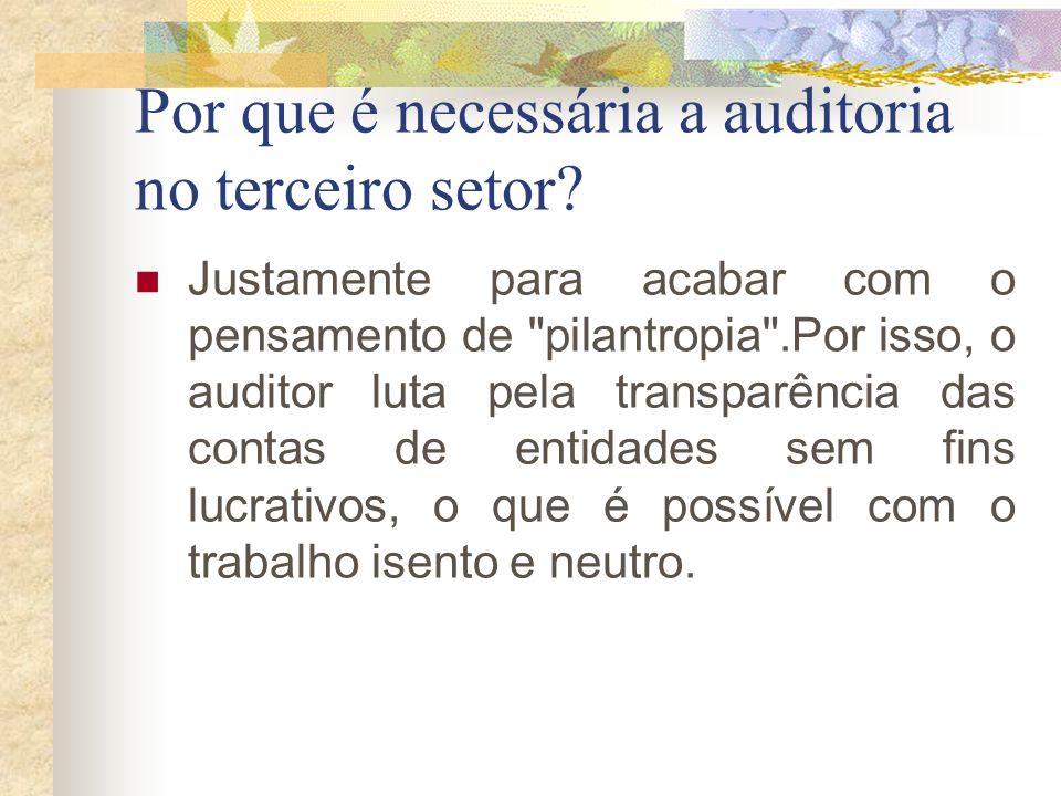Por que é necessária a auditoria no terceiro setor? Justamente para acabar com o pensamento de