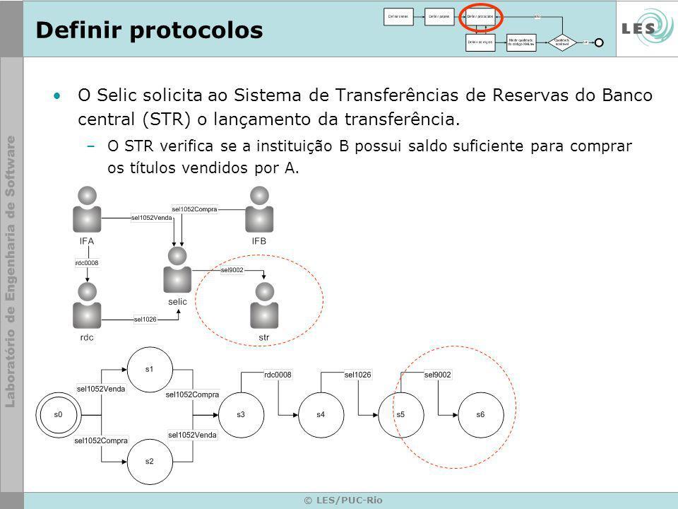 © LES/PUC-Rio O Selic solicita ao Sistema de Transferências de Reservas do Banco central (STR) o lançamento da transferência.