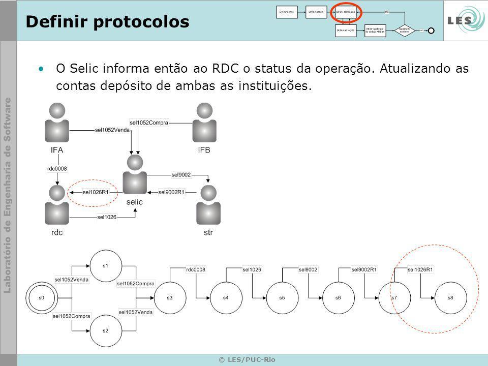 © LES/PUC-Rio O Selic informa então ao RDC o status da operação.