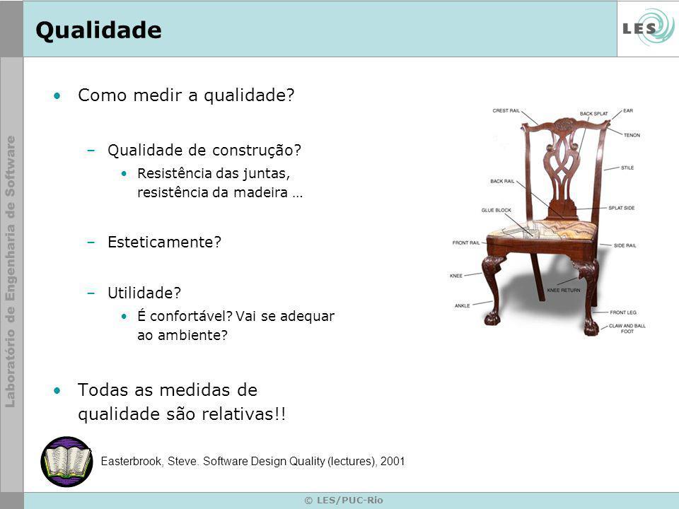 © LES/PUC-Rio Qualidade Como medir a qualidade. –Qualidade de construção.