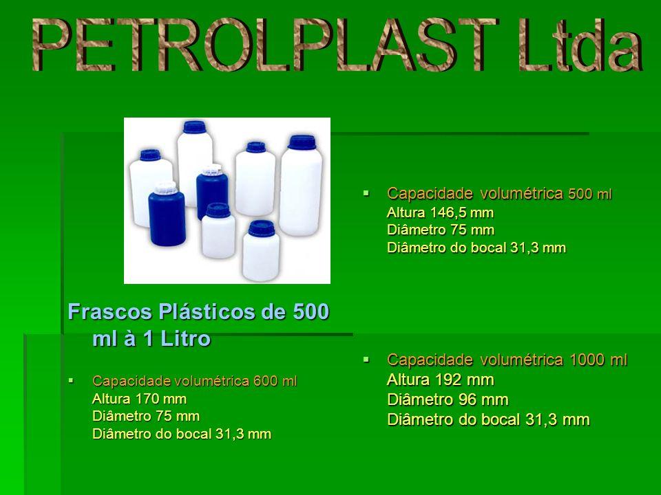 Capacidade volumétrica 500 ml Altura 146,5 mm Diâmetro 75 mm Diâmetro do bocal 31,3 mm Capacidade volumétrica 500 ml Altura 146,5 mm Diâmetro 75 mm Di