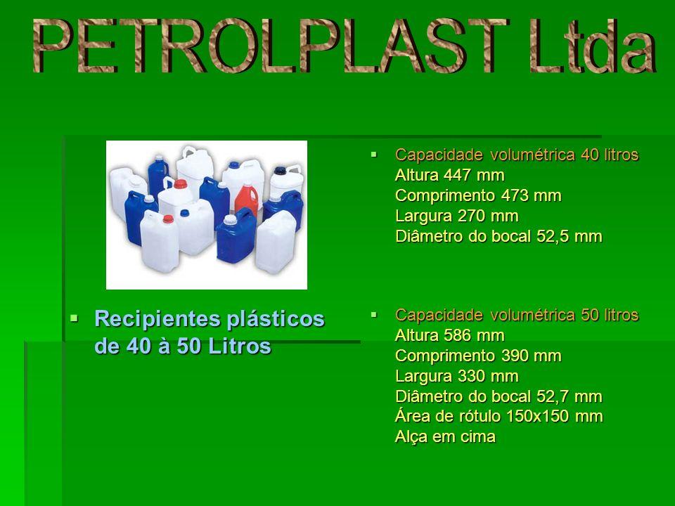 Capacidade volumétrica 40 litros Altura 447 mm Comprimento 473 mm Largura 270 mm Diâmetro do bocal 52,5 mm Capacidade volumétrica 40 litros Altura 447