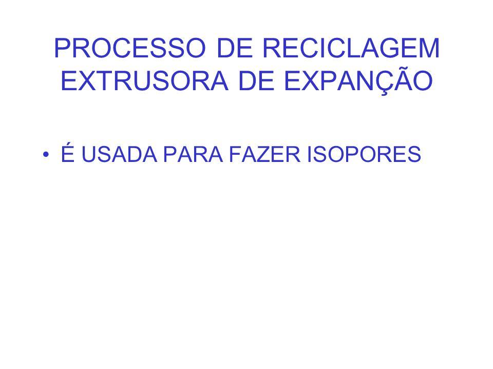 PROCESSO DE RECICLAGEM EXTRUSORA DE EXPANÇÃO É USADA PARA FAZER ISOPORES