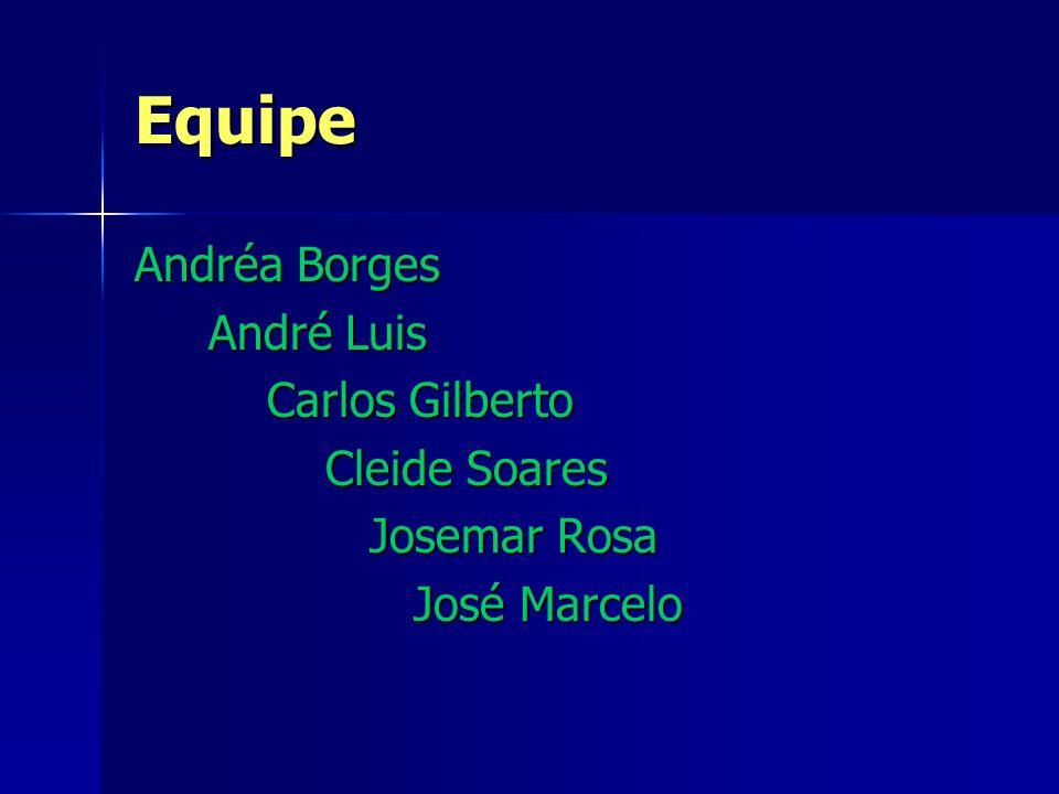 Equipe Andréa Borges André Luis Carlos Gilberto Cleide Soares Josemar Rosa José Marcelo