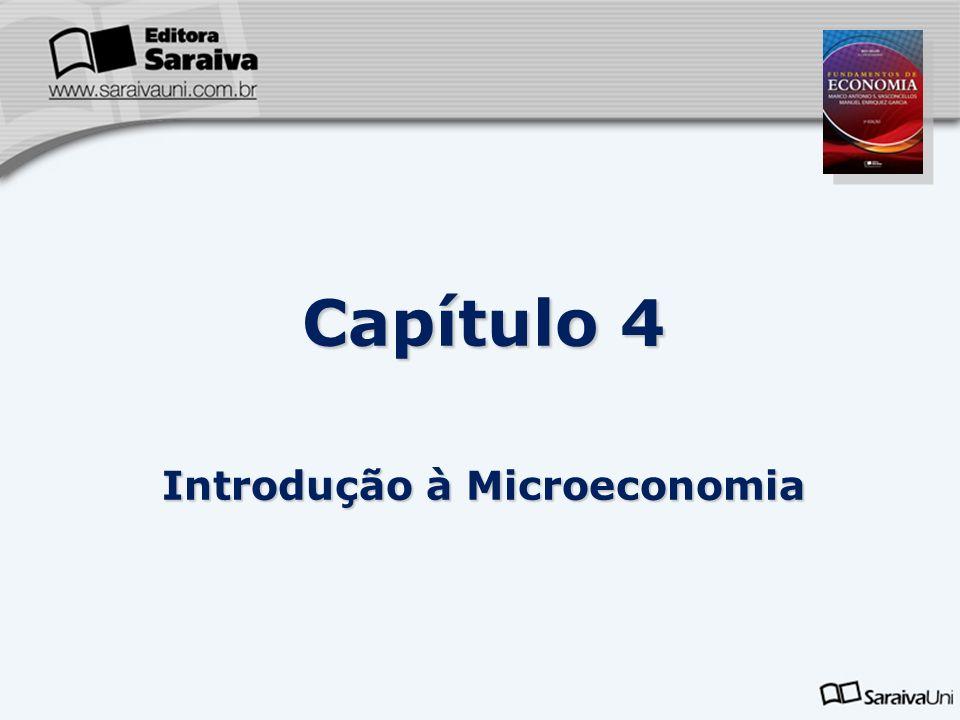 Capítulo 4 Introdução à Microeconomia 4.1 Introdução A microeconomia ou teoria dos preços analisa a formação de preços de bens e serviços e de fatores de produção em mercados específicos.