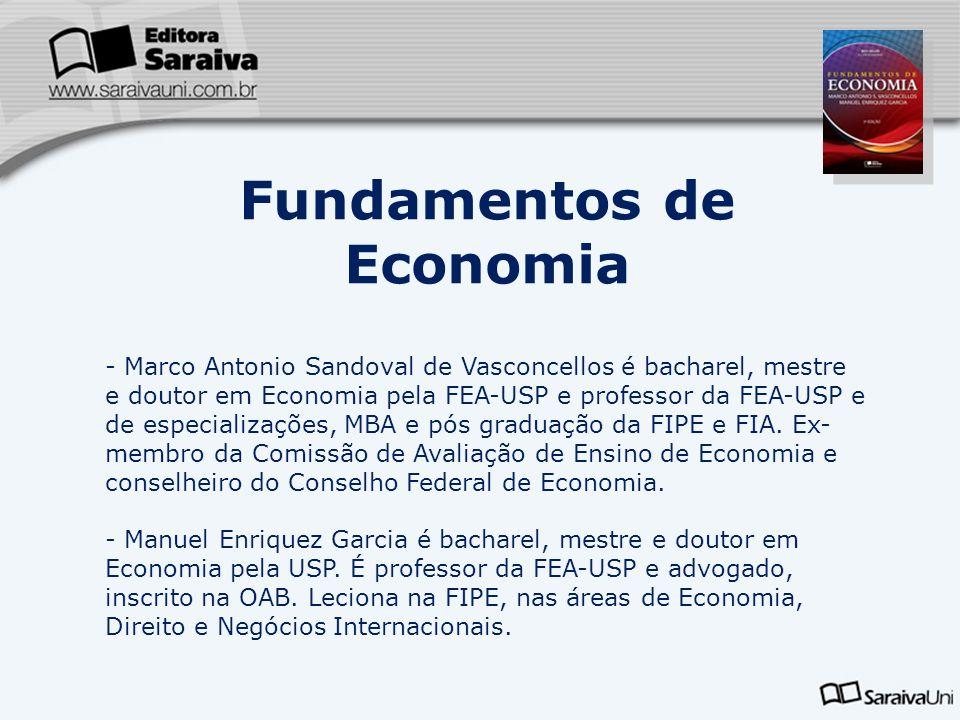 - Marco Antonio Sandoval de Vasconcellos é bacharel, mestre e doutor em Economia pela FEA-USP e professor da FEA-USP e de especializações, MBA e pós g