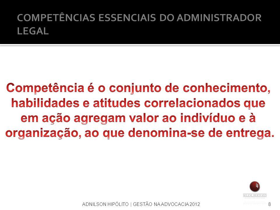 ADNILSON HIPÓLITO   GESTÃO NA ADVOCACIA 20128