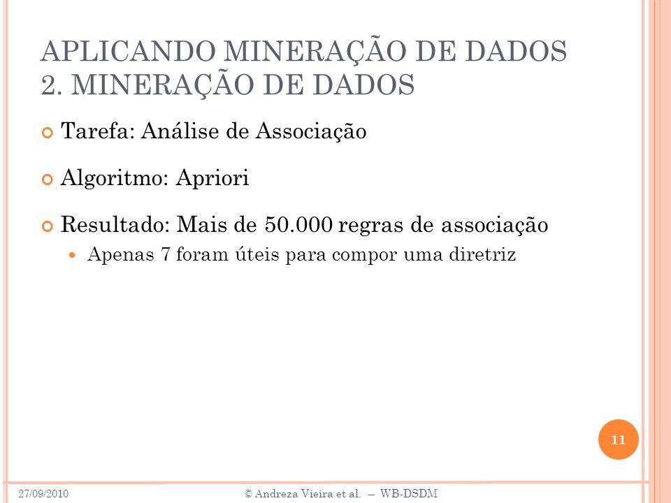 APLICANDO MINERAÇÃO DE DADOS 2.