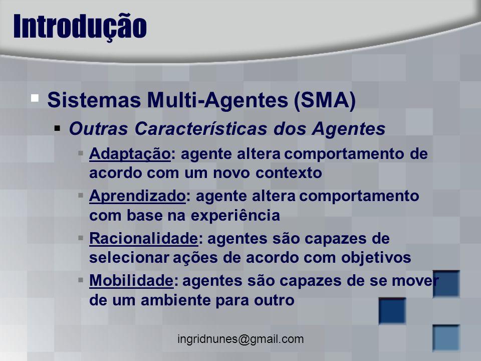 ingridnunes@gmail.com JACK TM Intelligent Agents Framework para o desenvolvimento de sistemas multi-agentes Desenvolvido pela Agent Oriented Software Pty.