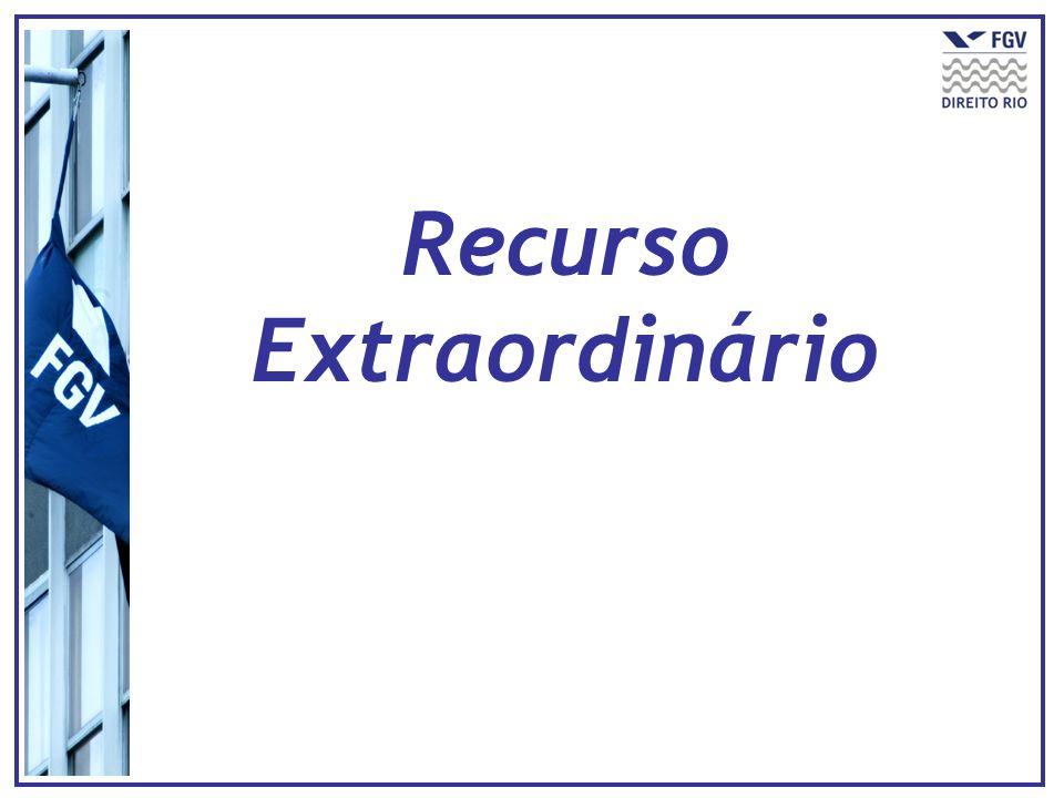 Inspiração no writ of certiorari americano Inserção do § 3º no artigo 102, CF (EC 45/2004) É requisito específico de admissibilidade (B.