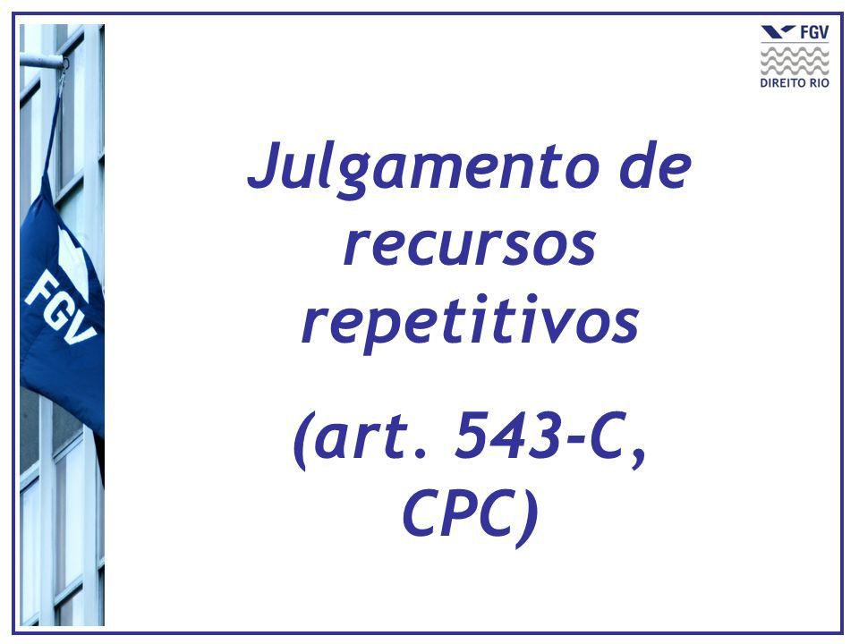 Julgamento de recursos repetitivos (art. 543-C, CPC)