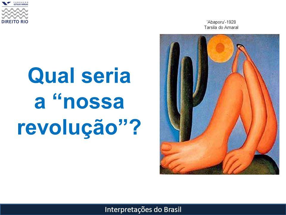 Interpretações do Brasil 'Abaporu'-1928 Tarsila do Amaral Qual seria a nossa revolução?