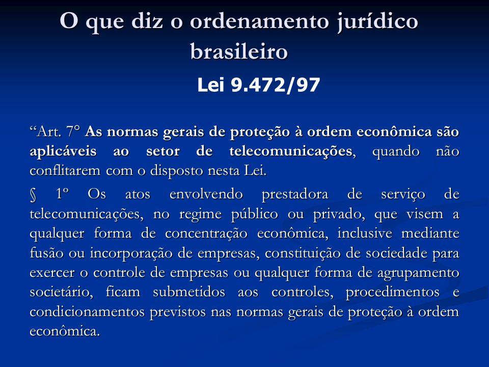 Art. 7° As normas gerais de proteção à ordem econômica são aplicáveis ao setor de telecomunicações, quando não conflitarem com o disposto nesta Lei. §