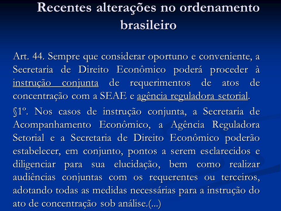 Art. 44. Sempre que considerar oportuno e conveniente, a Secretaria de Direito Econômico poderá proceder à instrução conjunta de requerimentos de atos