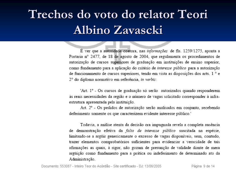 Trechos do voto do relator Teori Albino Zavascki