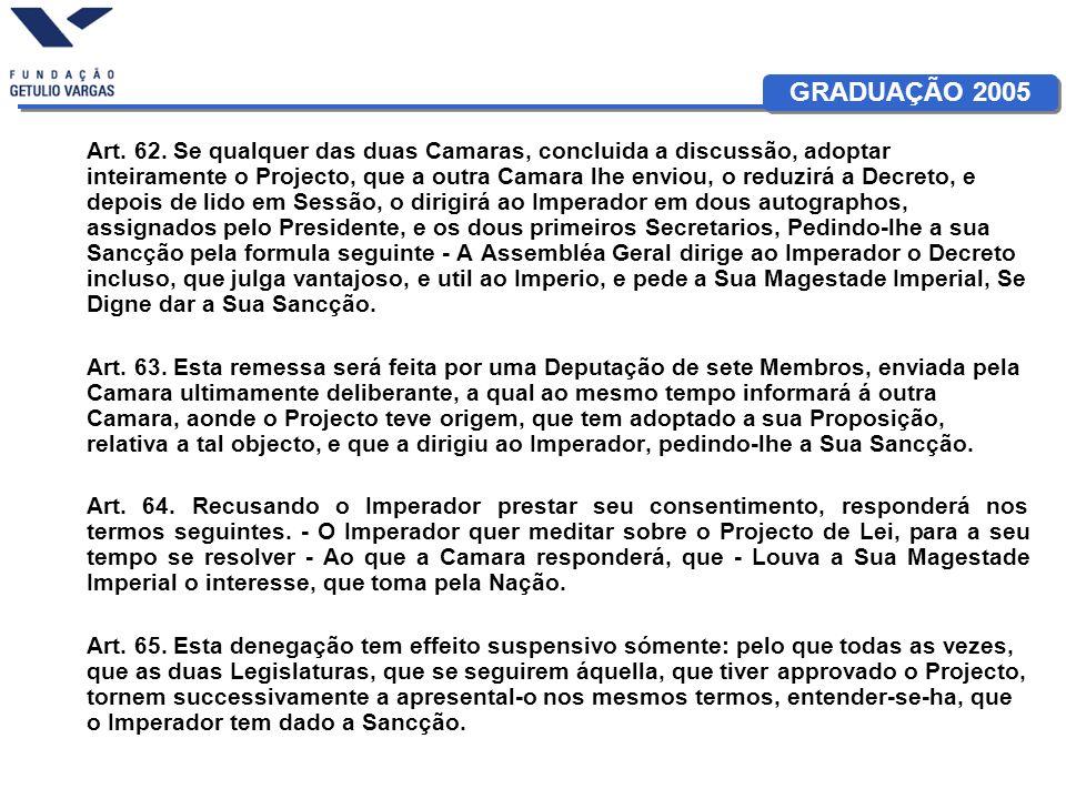 GRADUAÇÃO 2005 Art. 62.