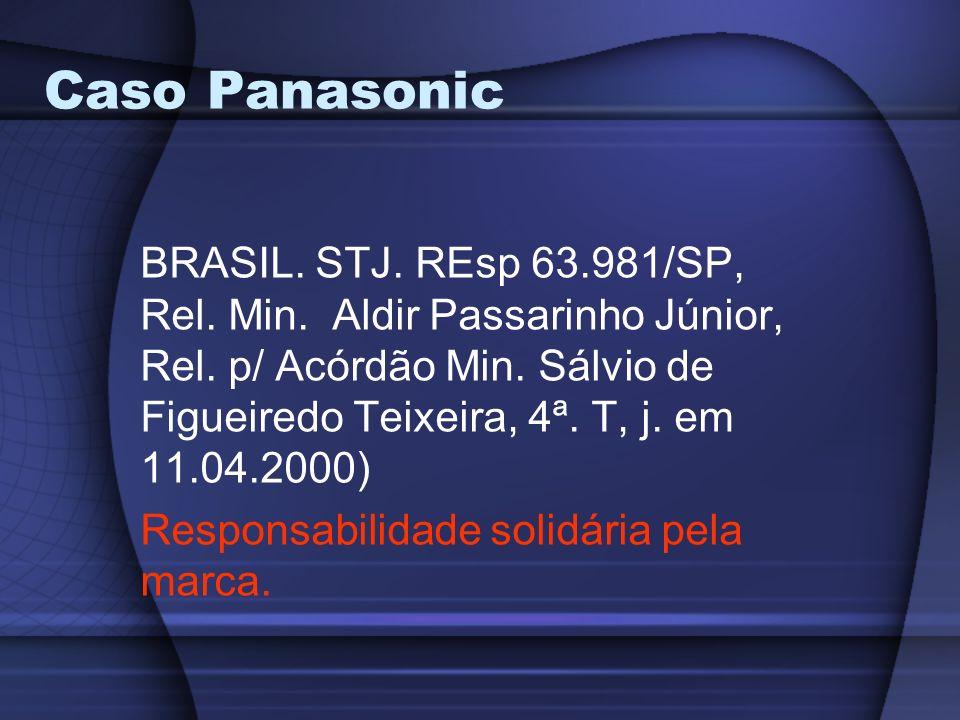 Caso Panasonic BRASIL. STJ. REsp 63.981/SP, Rel. Min. Aldir Passarinho Júnior, Rel. p/ Acórdão Min. Sálvio de Figueiredo Teixeira, 4ª. T, j. em 11.04.