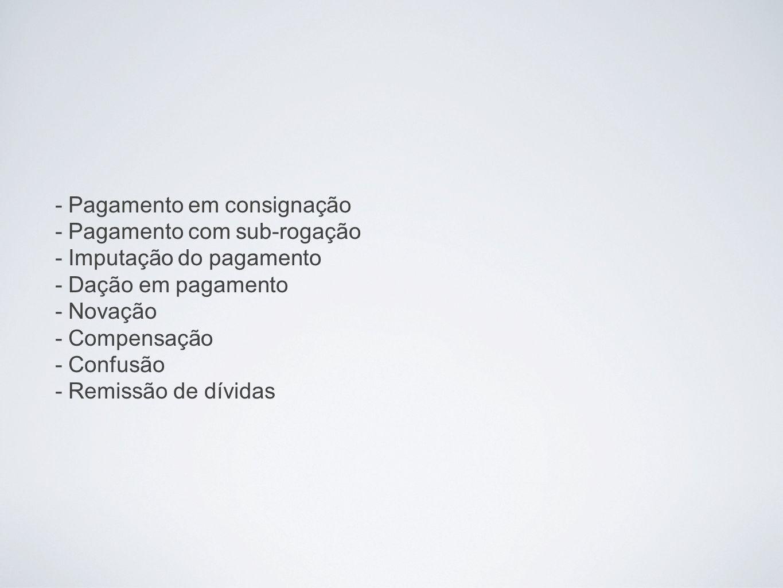 PAGAMENTO EM CONSIGNAÇÃO Art.334.