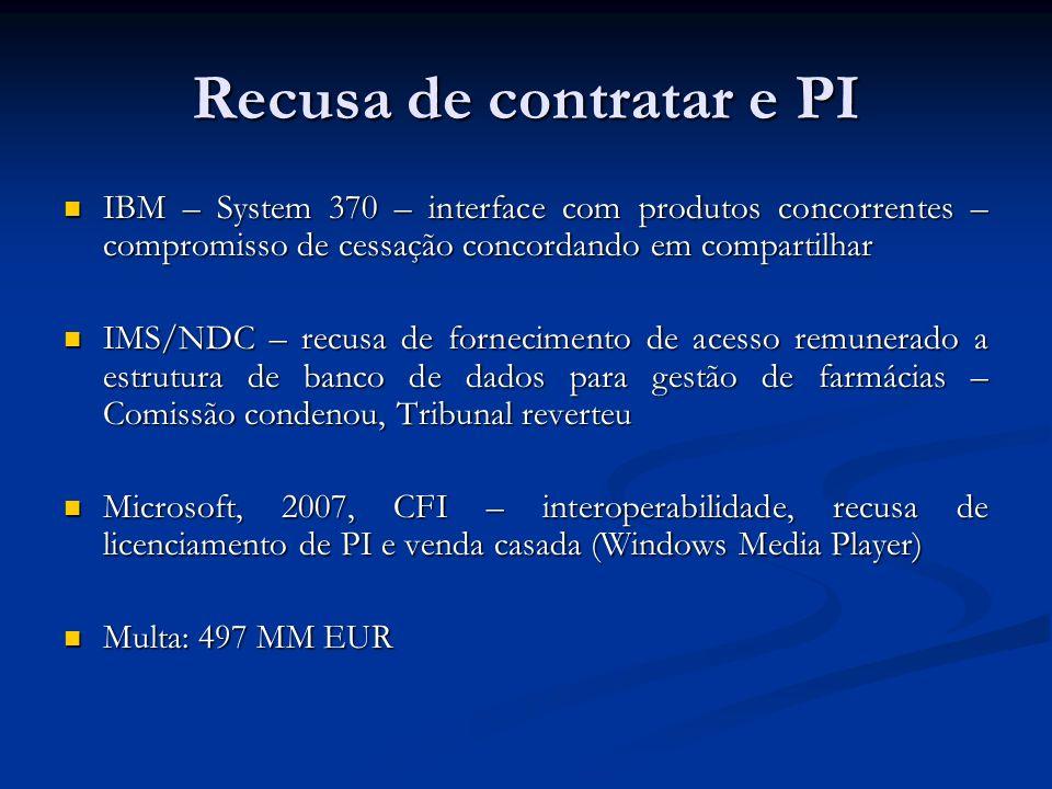 Recusa de contratar e PI IBM – System 370 – interface com produtos concorrentes – compromisso de cessação concordando em compartilhar IBM – System 370
