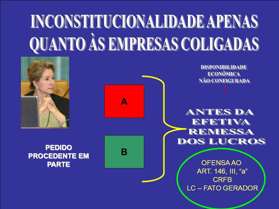 PEDIDO PROCEDENTE EM PARTE A B OFENSA AO ART. 146, III, a CRFB LC – FATO GERADOR
