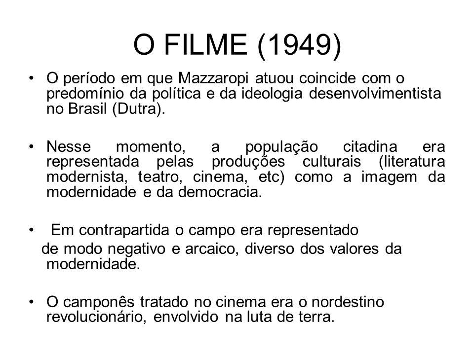 O FILME (1949) O período em que Mazzaropi atuou coincide com o predomínio da política e da ideologia desenvolvimentista no Brasil (Dutra). Nesse momen