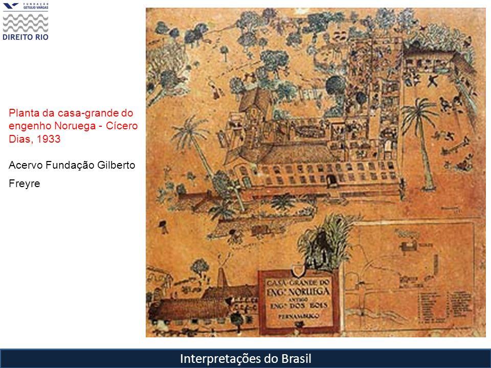 Interpretações do Brasil Planta da casa-grande do engenho Noruega - Cícero Dias, 1933 Acervo Fundação Gilberto Freyre