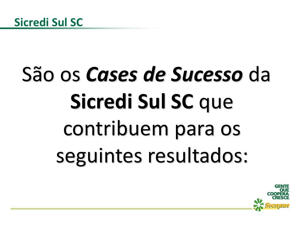Sicredi Sul SC São os Cases de Sucesso da Sicredi Sul SC que contribuem para os seguintes resultados: