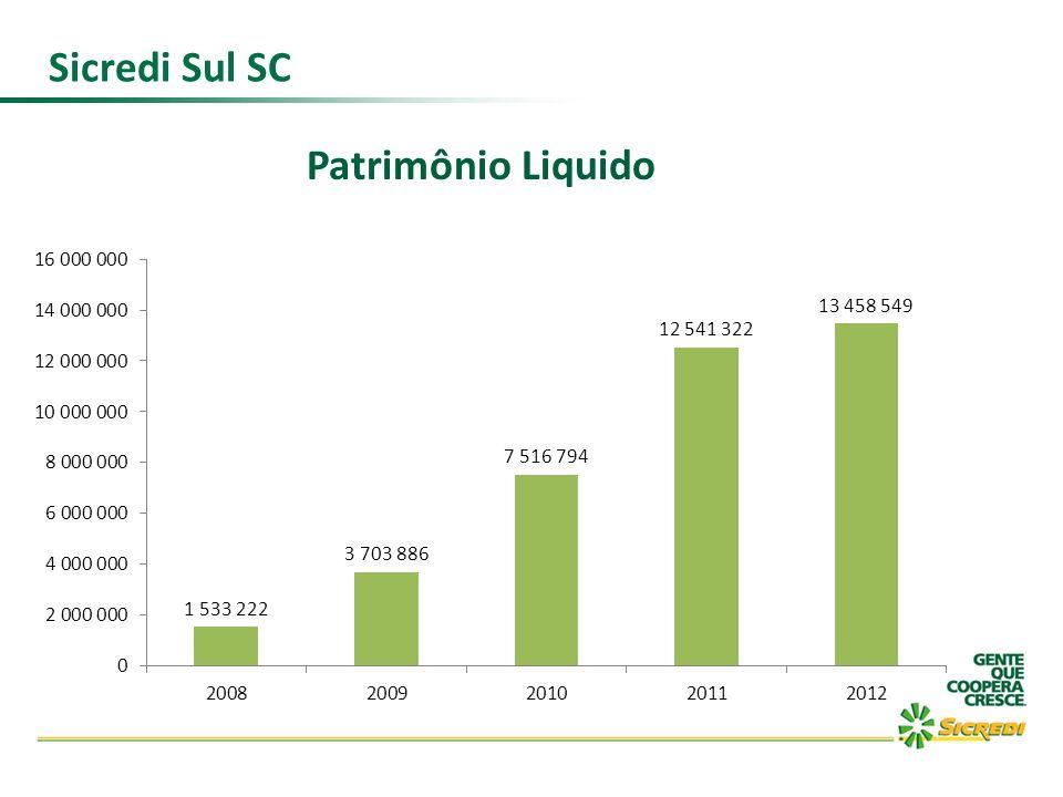 Patrimônio Liquido Sicredi Sul SC