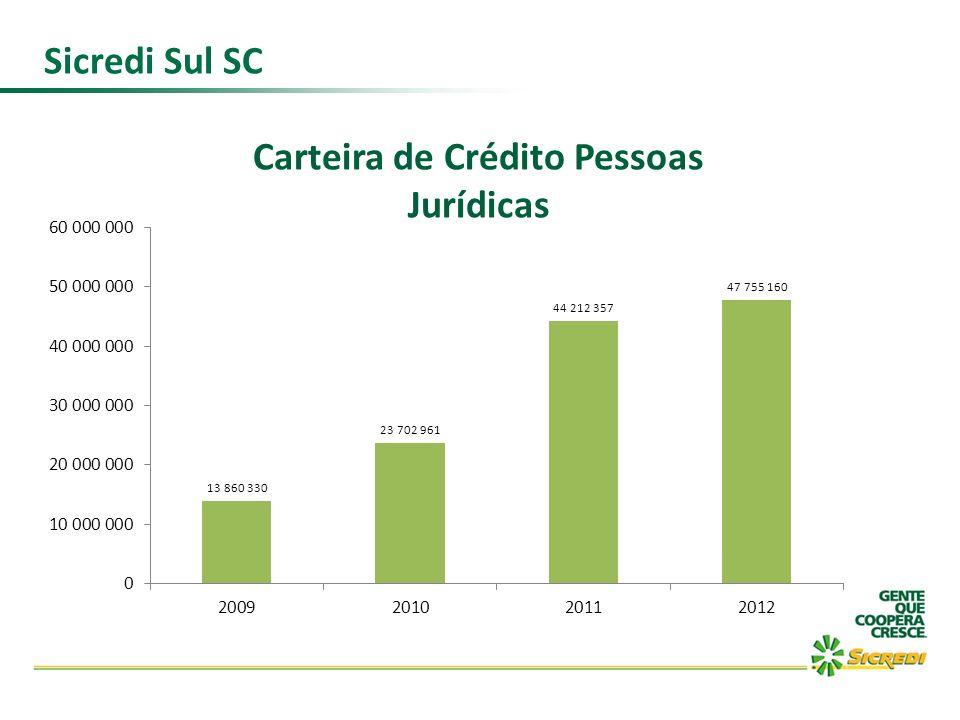 Sicredi Sul SC Carteira de Crédito Pessoas Jurídicas