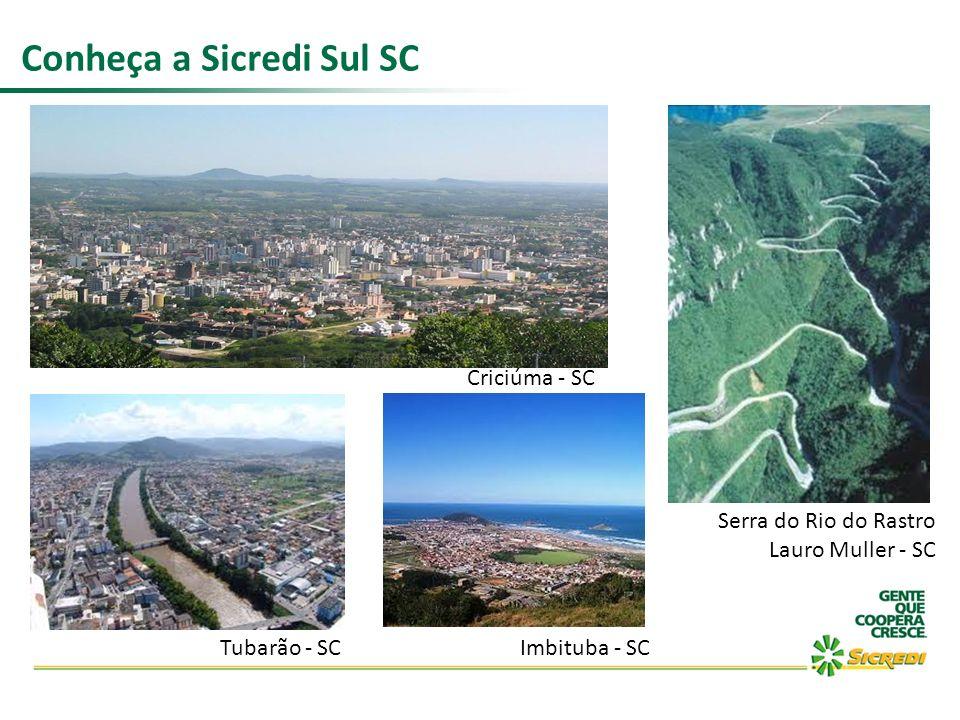 Conheça a Sicredi Sul SC Criciúma - SC Serra do Rio do Rastro Lauro Muller - SC Imbituba - SCTubarão - SC