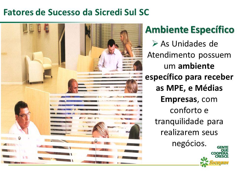 As Unidades de Atendimento possuem um ambiente específico para receber as MPE, e Médias Empresas, com conforto e tranquilidade para realizarem seus ne