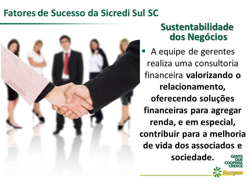 A equipe de gerentes realiza uma consultoria financeira valorizando o relacionamento, oferecendo soluções financeiras para agregar renda, e em especia