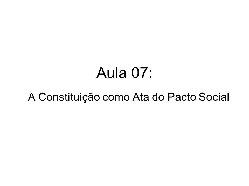 Aula 07: A Constituição como Ata do Pacto Social