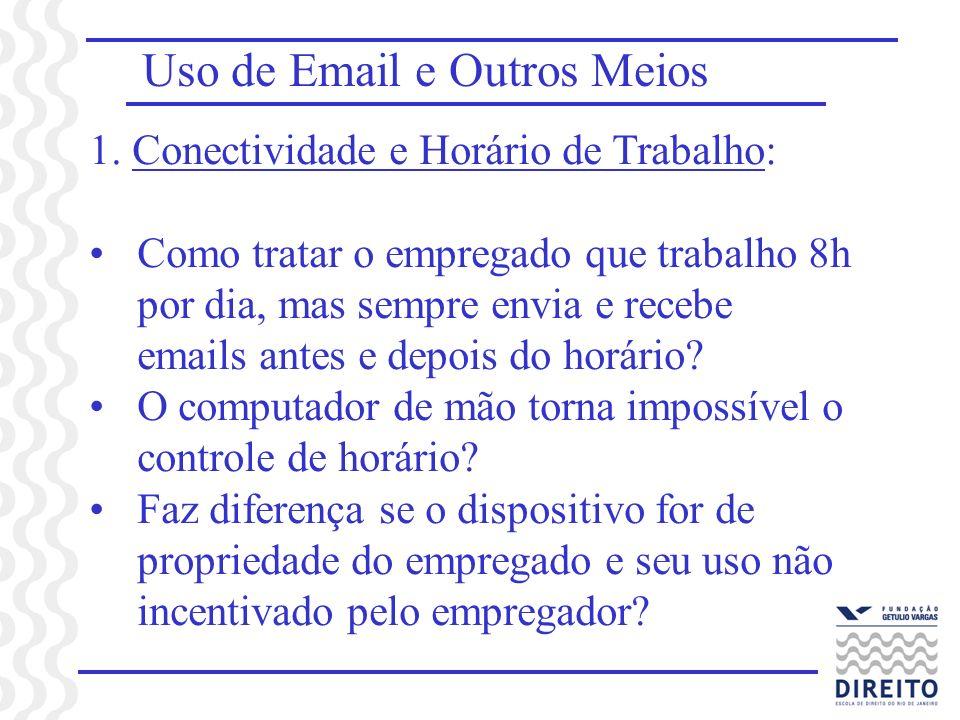 Uso de Email e Outros Meios 1.
