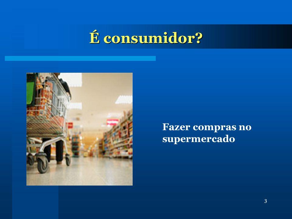 3 É consumidor? Fazer compras no supermercado