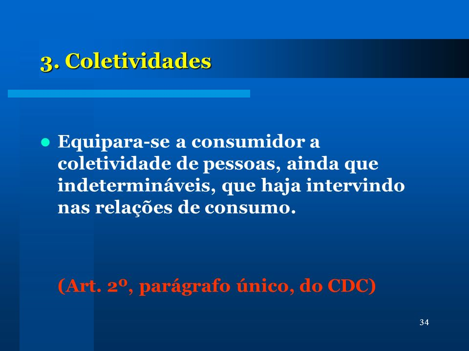 35 Defesa coletiva (art.