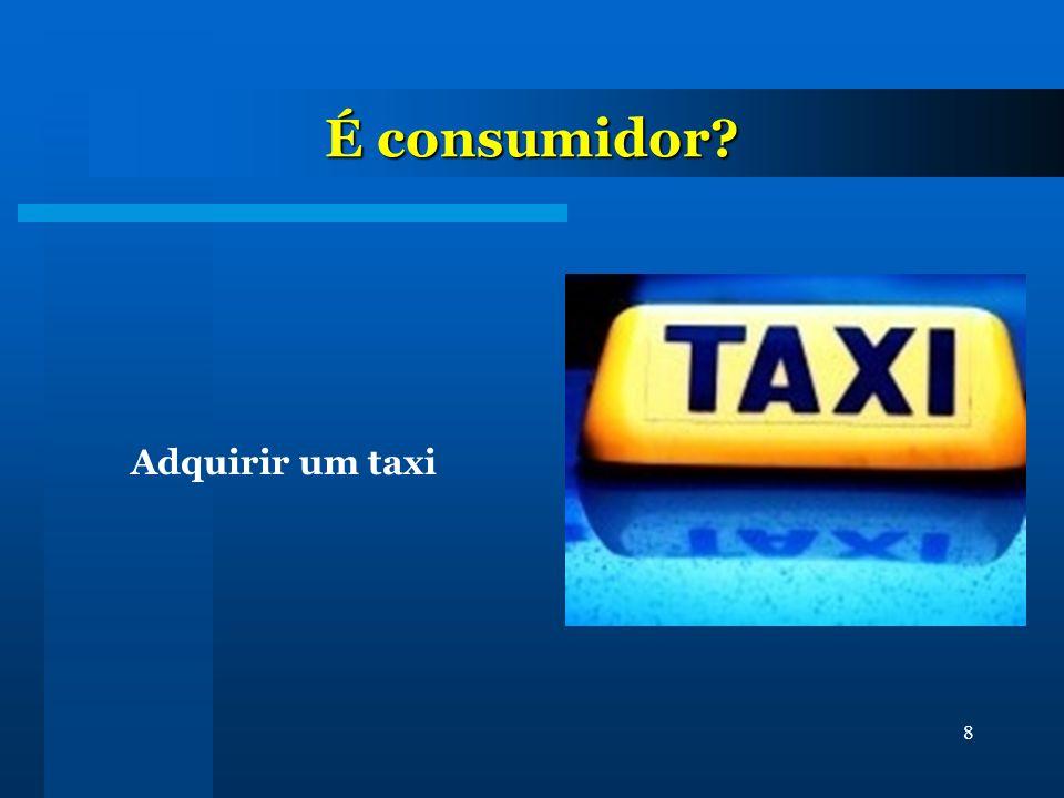8 É consumidor? Adquirir um taxi