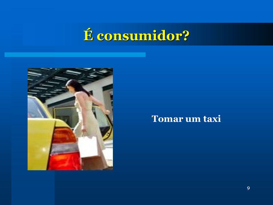 9 É consumidor? Tomar um taxi