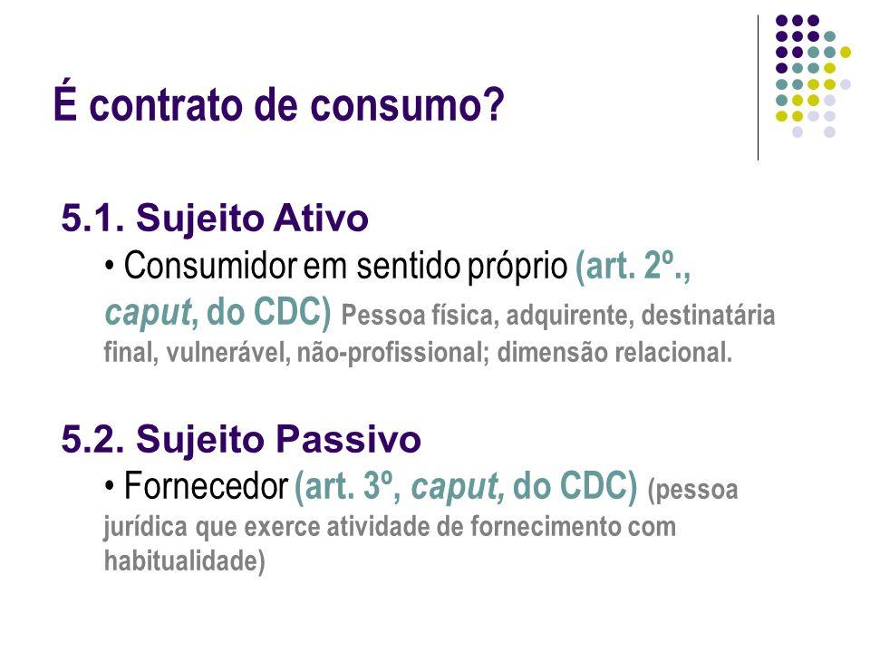 É contrato de consumo.OBJETO 1.Dar produto (Art. 3º., §1º, do CDC) 2.