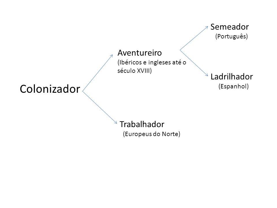 Novo par de tipos ideais >> critério: cidade como instrumento de dominação Ladrilhador: é aquele que se apega à ordem racional e planejada, submetendo a natureza aos seus caprichos.