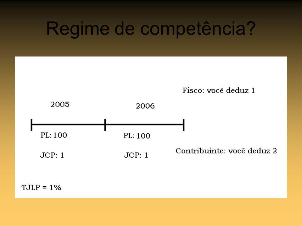 Regime de competência?